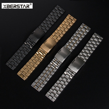 Stainless Steel Strap for Pebble Smartwatch Watchband for Samsung Galaxy Gear 2 SM-R380 for MOTO 360 2nd smart watch men's 46mm