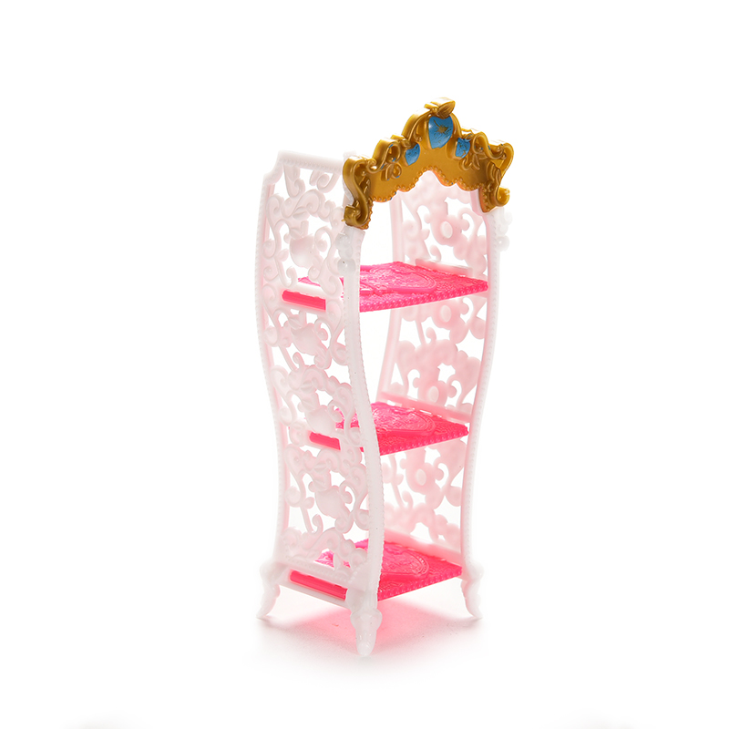 1 Pcs Doll Toy Shoe Cabinet Mini Living Room Home Furniture For Barbie Doll Accessories Color Random цена