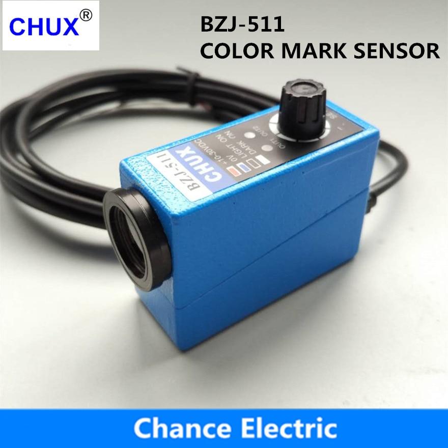 CHUX Popular Sensors Packing Machine Infrared Sensor BZJ-511 Color Mark Sensors Optical Switch packing machine new detect color infrared photocell mark sensor quality guaranteed optical switch z3n tb22
