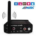 Amplificador de Fibra Óptica Coaxial Digital inalámbrica Bluetooth 5.1 de Alta Fidelidad de Audio Estéreo Receptor de Música MP3 Sound Home EE. UU. Adaptador de Enchufe