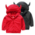 The boy fall casual jacket 2016 new kids hooded windbreaker baby children's cartoon cute children special offer.