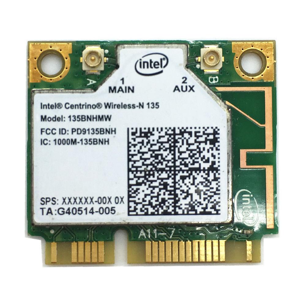 Free Shipping For Intel 135 135BNHMW 150Mbps Half Mini PCI-e WLAN Bluetooth 4.0 Wireless Card