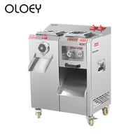 Измельчения мяса Slicer коммерческих Приспособления Нержавеющаясталь высокое Мощность Съемная Электрический Slicer Shred фарш клизма машина