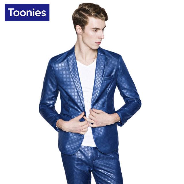 Mais recentes Modelos Casaco Calça 2017 Xadrez Sólida Homme Traje Terno homens Jaqueta Estilo Europa Único Botão Ternos dos homens Blazer Masculino casaco