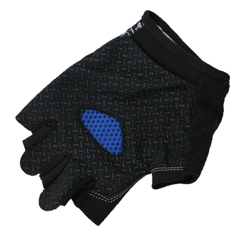 Dh Sport Radfahren Handschuhe Half Finger Bike Handschuhe Stoßfest Atmungs Berg Fahrrad Handschuh Männer Individualität Radfahren Kleidung Fahrradhandschuhe Sport & Unterhaltung