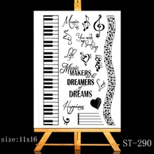 где купить ZhuoAng The sounds of music / piano playing Transparent and Clear Stamp DIY Scrapbooking Album Card Making DIY Decoration Making по лучшей цене