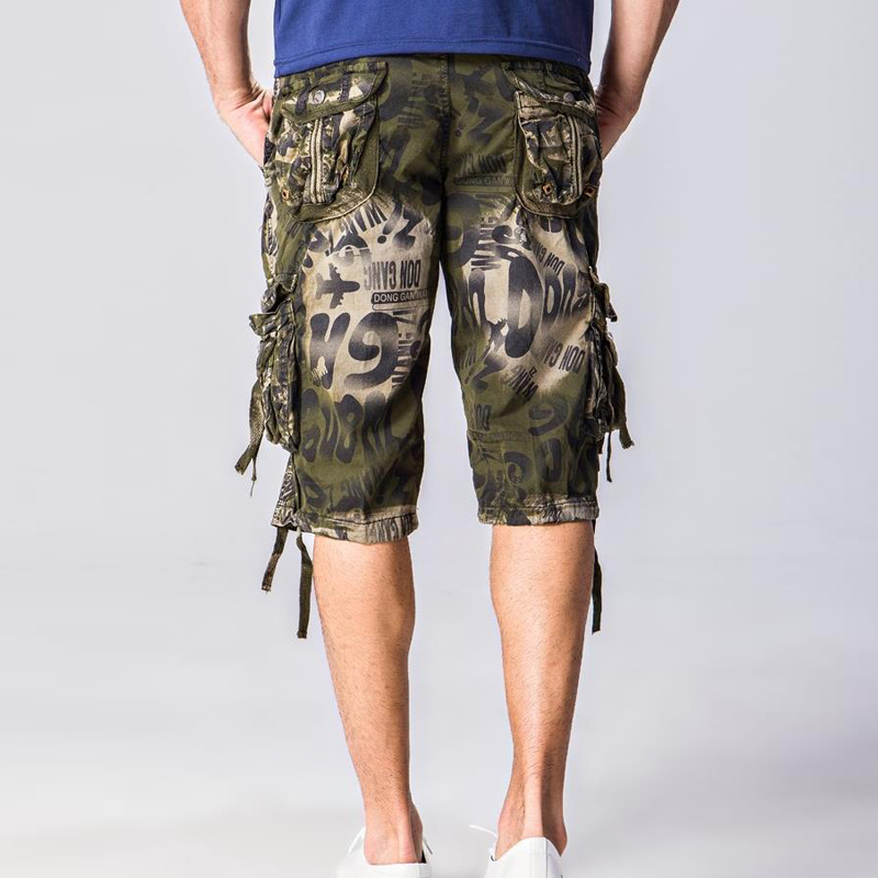 Summer Shorts American-Style Military-B549 Camouflage Multi-Pocket European Loose Print