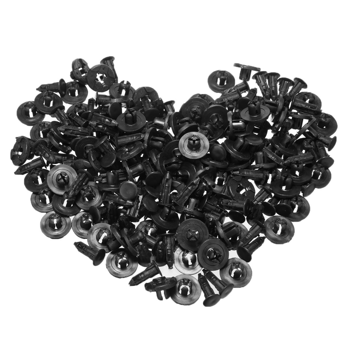 Image 4 - Внутренние зажимы 100 шт 10 мм авто пистон бампер толчок клип черный пластиковый крепеж бампер штырь заклёпки для Honda автомобиля-in Клипсы и зажимы для авто from Автомобили и мотоциклы
