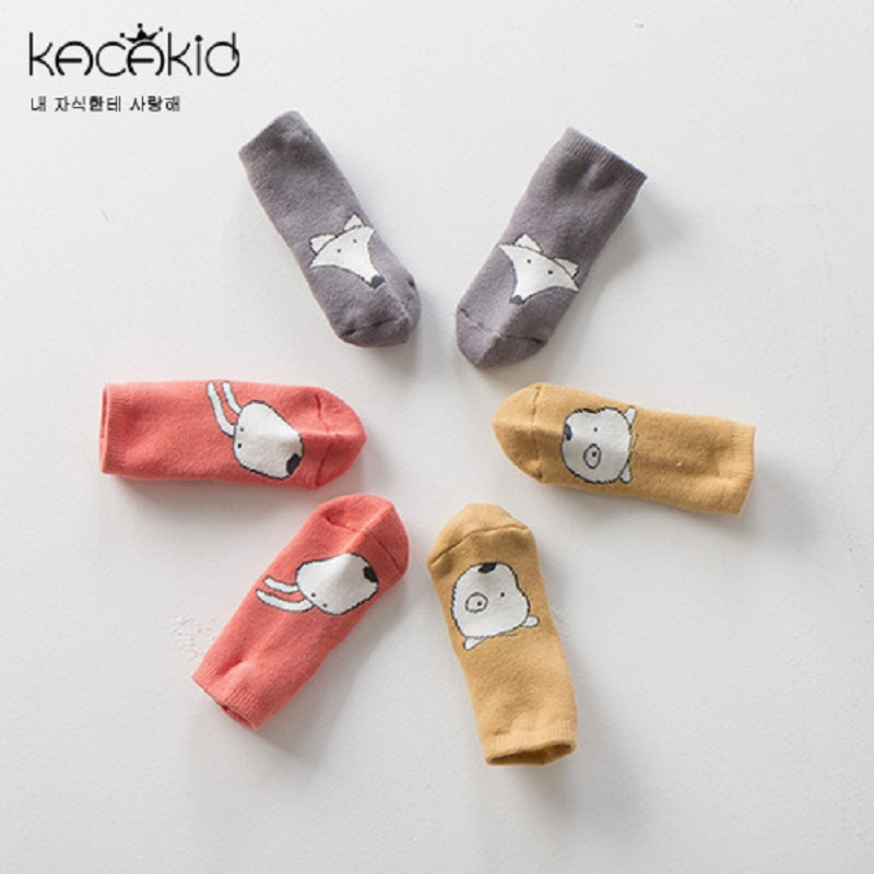 Kacakid baby cotton socks baby boy girl Cute socks toddlers socks kids infants Anti-slip Socks
