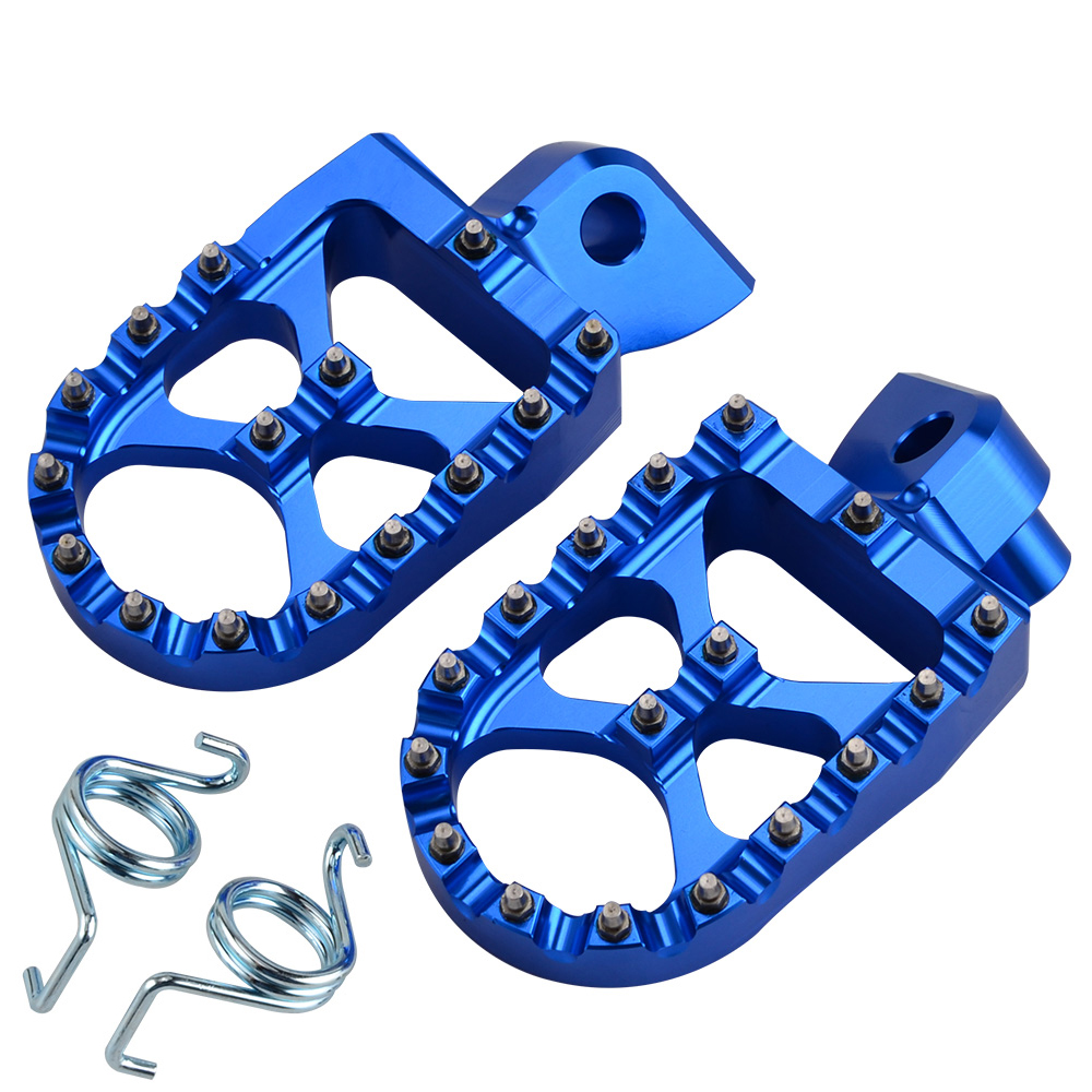 NICECNC 57mm Foot pegs Foot Rests For Yamaha YZ 85 YZ125 YZ250 YZ125X YZ250X YZ250F YZ250FX YZ450FX WR250F YZ WR 450F 250F 2018