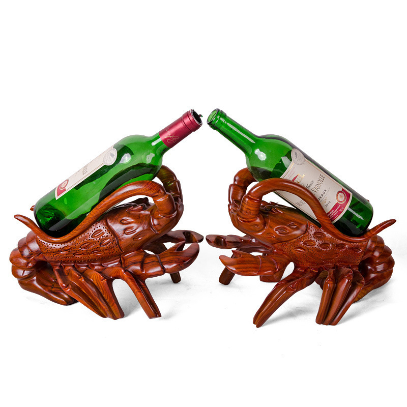 Shengwei process of genuine direct selling African pear shrimp Wine upscale home decor ornaments one pair