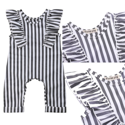 c681904dcacc5 US $4.4 25% OFF Aliexpress.com : Buy New Black&White Stripe Romper Baby  Girl Kids Striped Sleeveless Romper Jumpsuit Toddler Outfits Children  Summer ...