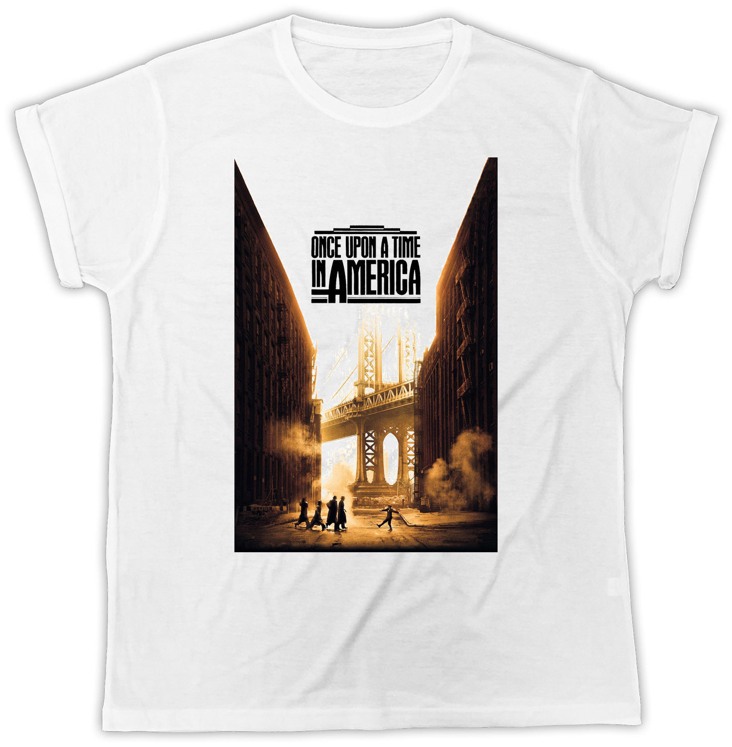 Once Upon a Time in America T Shirt Nostalgia Ideal Present Unisex T-shirt Round Neck Best Selling Male Natural Cotton Shirt image