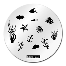Fish Sea Nail Art Stamping Template Image Plate hehe012 Nail Stamping Plates Manicure