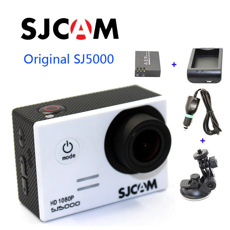 Free shipping!Original SJCAM SJ5000 Sport Action Camera+Extra 1pcs battery+Battery Charger+Car Charger+Holder for DV camera free shipping original sjcam m10 wifi mini action camera extra 1pcs battery battery charger car charger holder the monopod