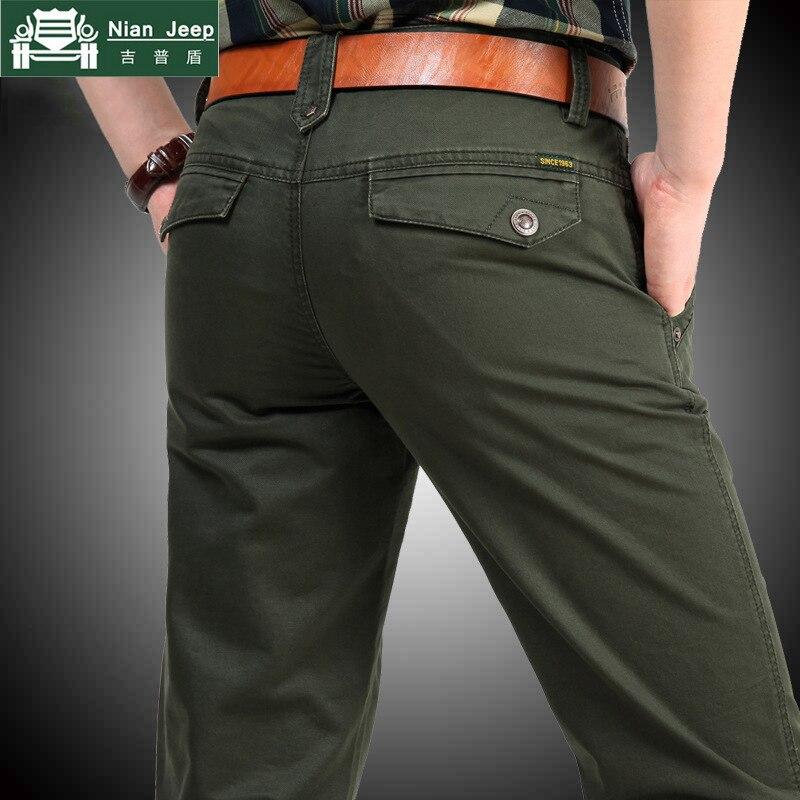 NIANJEEP Brand 100% Cotton Cargo Pants Men Military Style Army Long Pants Men Pockets Baggy Mens Pantalones Sweatpants 2153