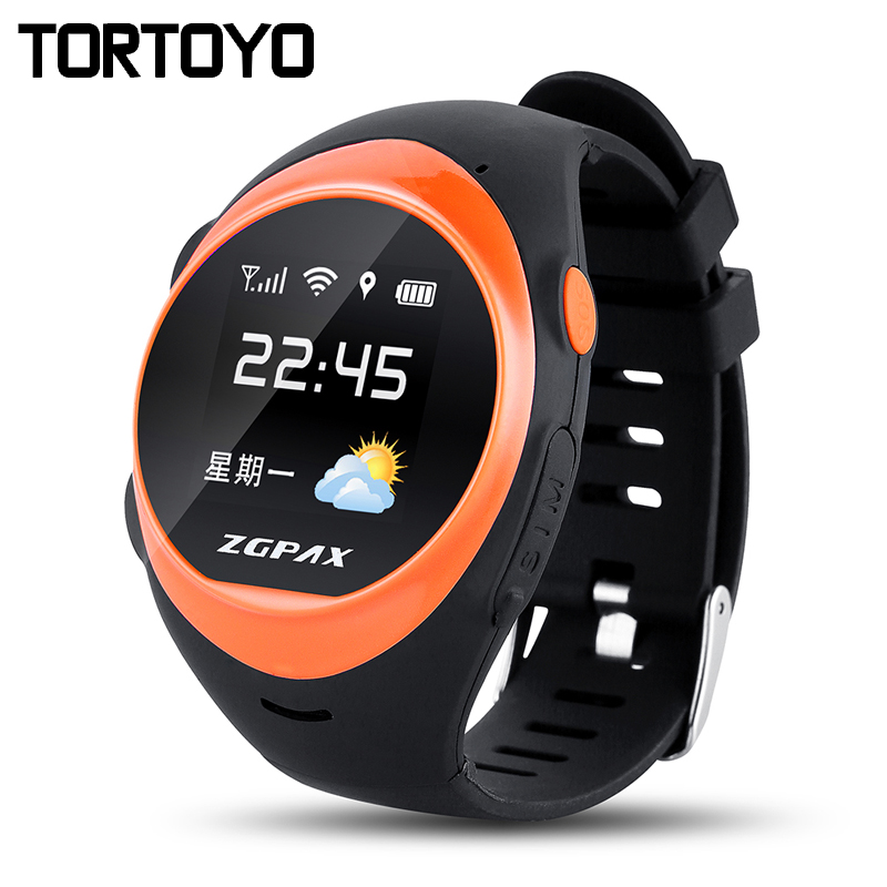 ZGPAX S888A Waterproof Smart Watch Children Elder SOS GPS Positioning Tracking Smartwatch Anti-lost Alarm For iOS Android Phone