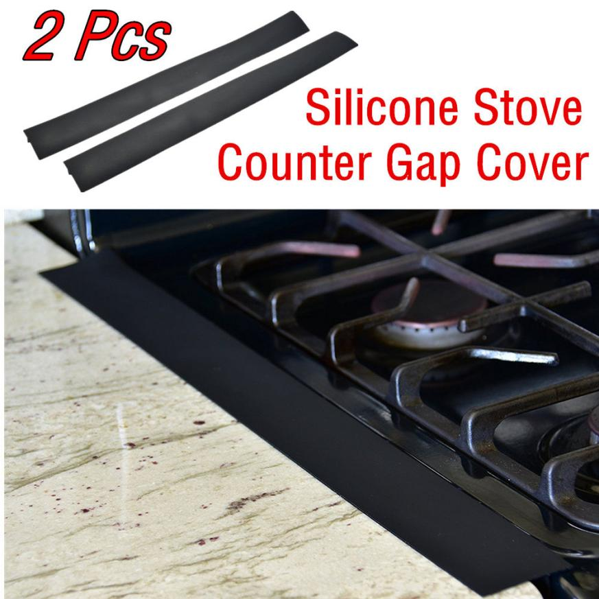 2 Pcs Lot Silicone Stove Counter Gap Cover Flexible