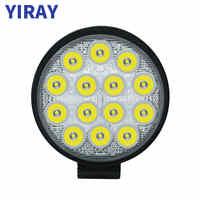 YIRAY off road 42W led bar Work Light Bar For 24v 12v Car Accessories Spotlight For 4X4 SUV Jeep Truck Boat Bus Car Lamp weketor
