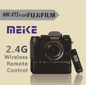 Meike MK-XT1 Pro Battery Grip for Fujifilm Fuji X-T1 XT1 with 2.4G Wireless Remote Control neewer meike battery grip for sony a6300 camera built in 2 4ghz remote control work with 1 or 2 np fw50 battery