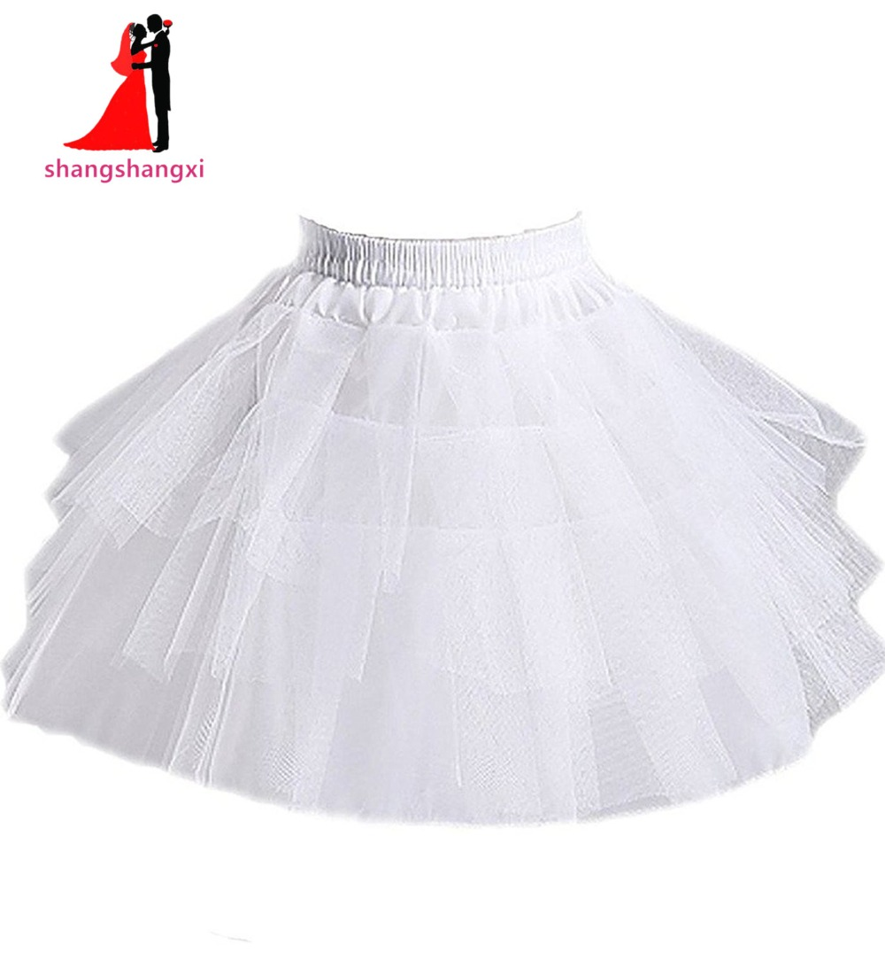 Romantic Bridal Wedding Dresses Store New Mini Short Petticoat Underskirt Crinolines Formal For Flower Girl Petticoat Kids 3 Layers Underskirt Crinoline
