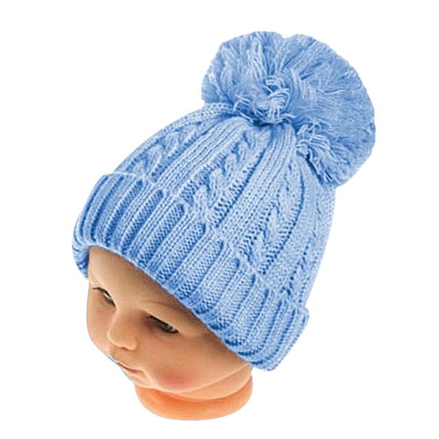Hiver Garçons Filles Twist Motif Chapeau Tricoté Pom Pom Cap Pour enfants  Bonnet De Fourrure De 455c4705e8c