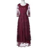 Belle Poque Medieval Retro Vintage Sexy Lace Women Evening Maxi Dress Female Gothic Victorian O Neck