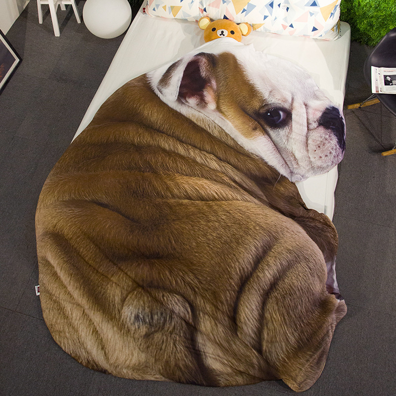 Creative Blankets Pet Pattern Summer Cool Quilt Home Sofa Travel Soft Blanket For Children With Happy Throw Blanket Coverlet