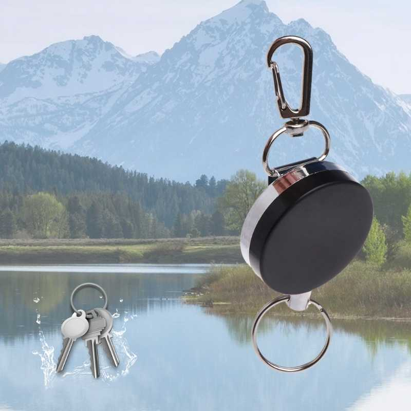 Fishing Tackle Boxes Fishing Zinger Retractor Key Ring Reel Holder Retractable  Reel Badge Holder Steel Cable Tools Holders
