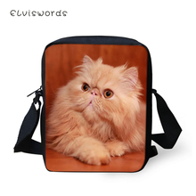 ELVISWORDS Women Messenger Bags Cartoon Persian Cats Girls Fashion Flaps Shoulder Kawaii Animal Pattern Travel Mini Purses
