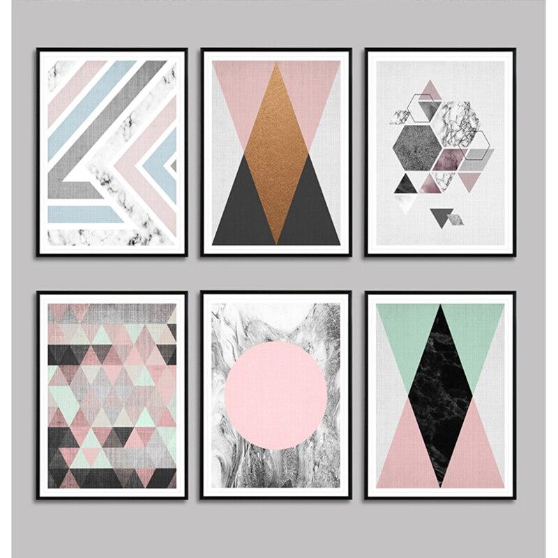 Online get cheap geometrische malerei for Dekorative bilder wohnzimmer
