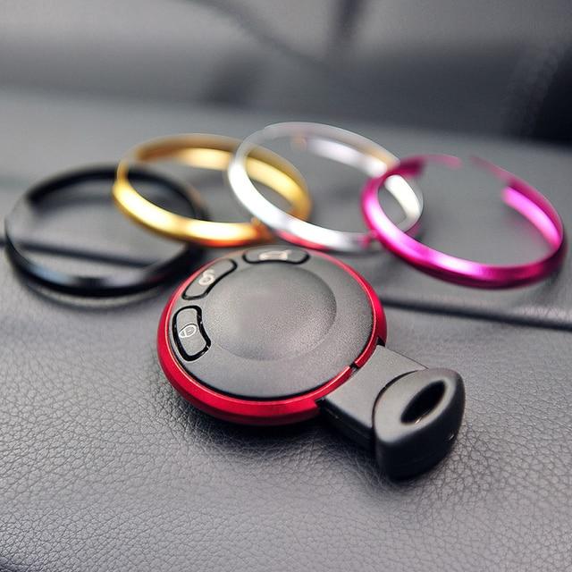 In Lega di alluminio portachiavi Mini cooper Chiave Portachiavi Ad Anello Gingillo Portachiavi Per BMW Mini Cooper JCW R55 R56 R57 R58 r59 R60 R61 1
