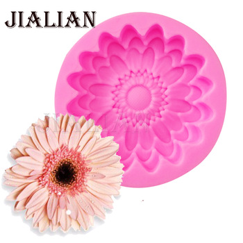 New 3D chrysanthemums Soap mold Flowers silicone moulds candle molds Sunflower cake decoration tools wholesale T0959