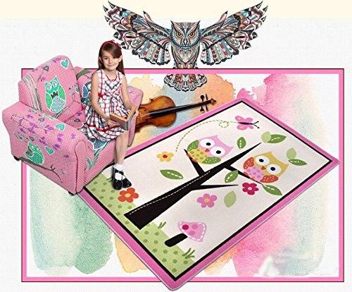 Kinder Teppiche Und Teppich Fr Schlafzimmer Bereich Wohnzimmer Spielmatte Eule Rosa Mdch