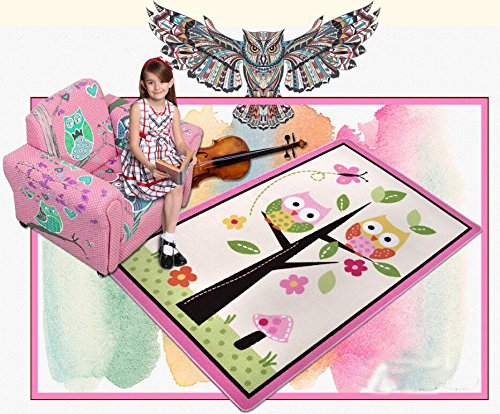 kids rugs and carpet for bedroom area rug living room children play mat children 39 s rug owl. Black Bedroom Furniture Sets. Home Design Ideas