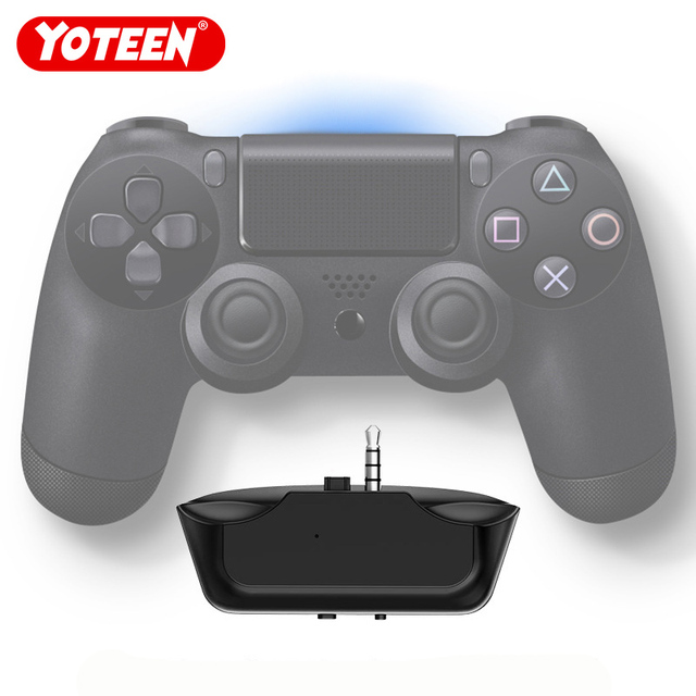 Yoteen kablosuz bluetooth 5.0 Ses Alıcı Verici Mini 3.5mm Aux Stereo Adaptörü için PS4 Gamepad bluetooth kulaklık