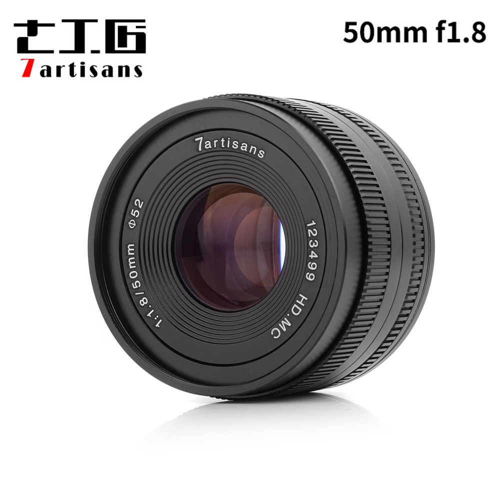 7artisans 50mm F1.8 Manual Focus Prime Lens for Sony E-mount / for Micro 4/3 Cameras A6500 A6300 A6000 A7 X-A1 X-A2 E-PL1 E-PL2 image