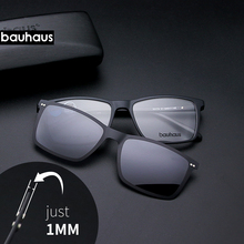 Ультратонкие зажимы на клипсах, полная оправа, оптическая оправа, винтажные мужские очки для близорукости, солнцезащитные очки, антибликовые/УФ