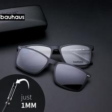 Ultradunne Clips Clip Op Volledige Velg Optische Frame Vintage Mannen Bijziendheid Bril Zonnebril Anti Glare/Uv