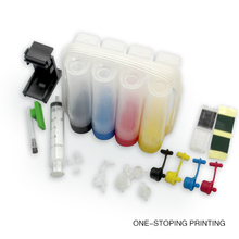 Continuous Ink Supply System Universal 4 Color empty CISS kit with accessaries ink tank for HP printers Drill pumping ink folder(China)