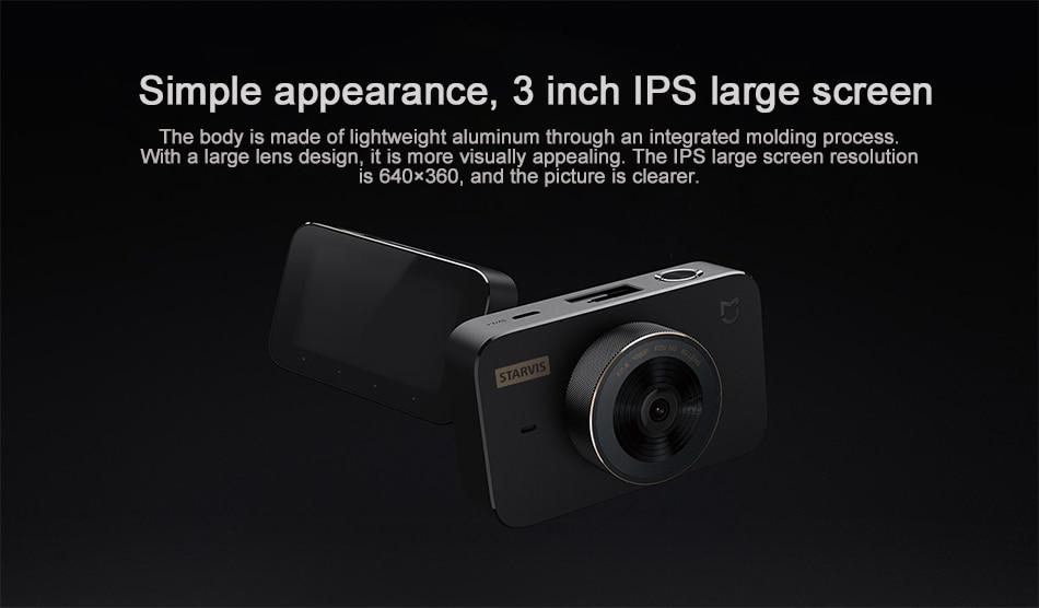 Original Xiaomi Mijia Carcorder 1S Smart DVR Car Driving Camera Recorder F1.8 1080P 160 Degree Wide Angle 3 Inch HD Screen (1)