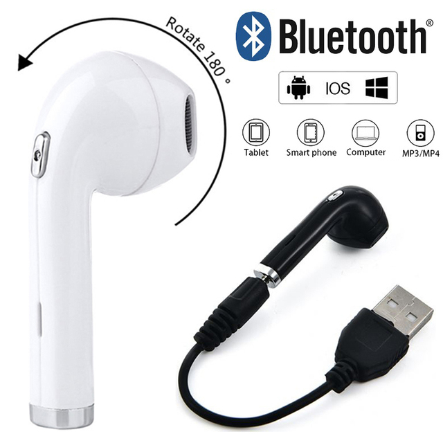 62a2cbf3aec 50PCS Free DHL BHT i8 Mini Wireless Earphone In-Ear 180 degrees rotated  Earbuds with Mic for Bluetooth Sumsung Xiaomi Phone