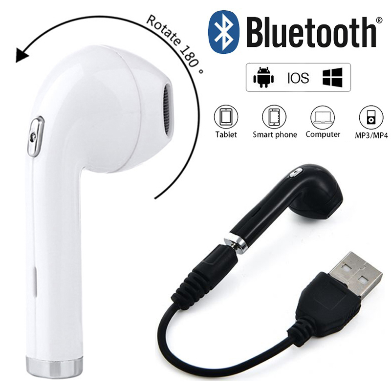 50PCS Free DHL BHT i8 Mini Wireless Earphone In Ear 180 degrees rotated Earbuds with Mic for Bluetooth Sumsung Xiaomi Phone