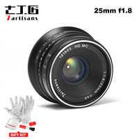7artisans 25mm/F1.8 Focale fixe à Toutes les Séries pour Monture E/pour Micro 4/3 Caméras A7 A7II A7R A7RII X-A1 X-A2 G1 G2 G3