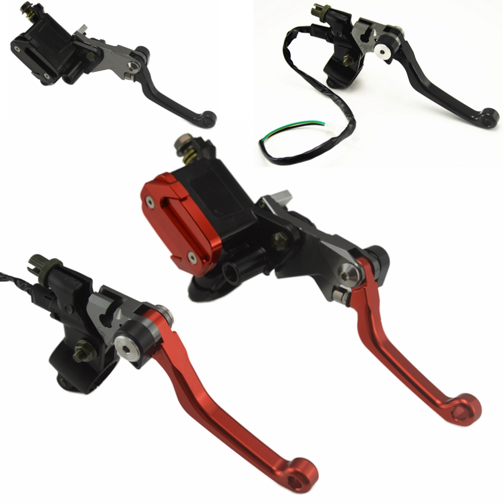2pcs Universal 7/8 22MM Motorcycle Brake Hydraulic Master Cylinder Reservoir Levers R1 R6 ZX6R K6 K8 Z1000 GSXR600/750 CBR600 motorcycle parts racing cnc aluminum adjustable hydraulic brake master cylinder reservoir colorful short levers kit black 7 8 22mm for honda rc51 rvt1000 sp 1 sp 2 2000 2006
