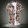 The European and American Popular style Short Sleeve Shirts Men's Summer Clothing Floral Camisas Hombre Big Size M~6XL 7XL 3020
