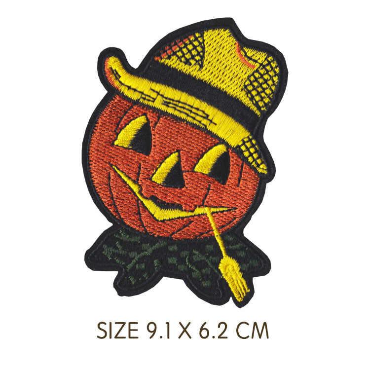 1PCS Delicate Cartoon Halloween Hexe Eule Punk stlye schädel Schwarz herz Patches Abzeichen T-shirt mantel Kleidung Zubehör Patches