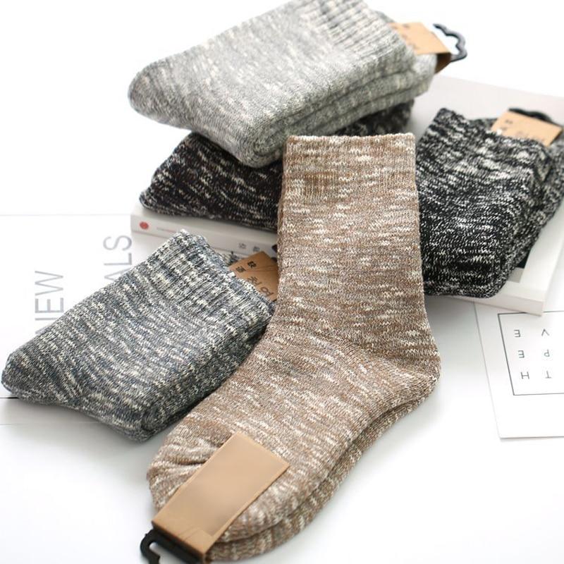 5Pair Fashion Warm Mens Socks Leisure Male Business Dress Socks For Men Calcetines Hombre Men Long Winter Socks Warm Meias