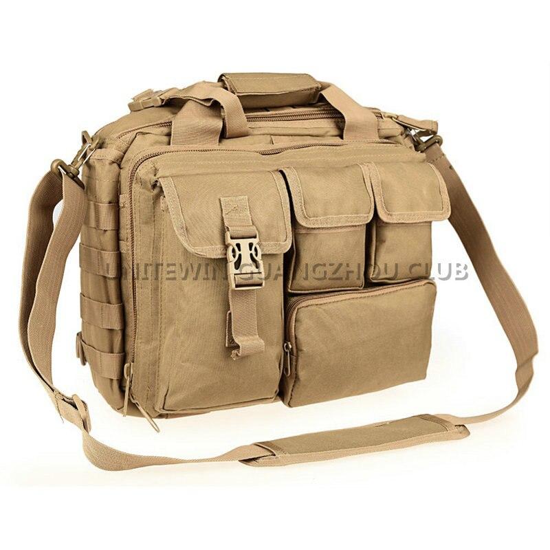 ФОТО Military Army Hunting Tactical Laptop Bags Outdoor Waterproof Nylon Wear-resisting Shoulder Bag Men's Leisure Messenger Bag