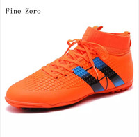 New Indoor futsal soccer boots sneakers men Cheap soccer cleats superfly original sock football shoes with ankle boots high hall